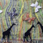 Jamie Lynn Mixed Media Giraffes