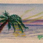Pamela French ATC Beach Sunset