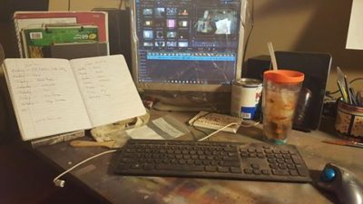 Image of my video editing station